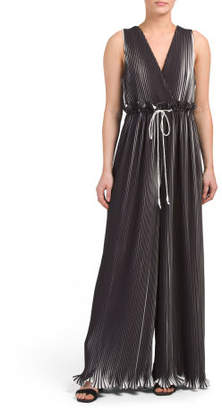 Dream Chaser Plunging V-neck Pleated Jumpsuit