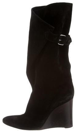 Balenciaga Balenciaga Suede Wedge Boots