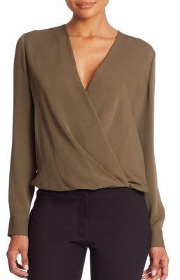 Diane von Furstenberg Marci Silk Top $298 thestylecure.com