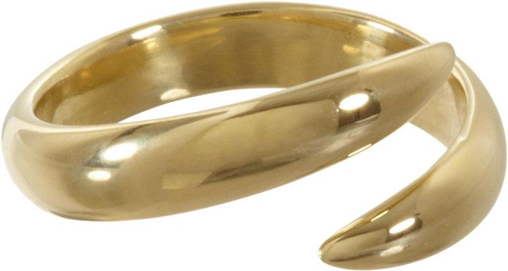 Eva Fehren Gold Wrap Claw Pinky Ring