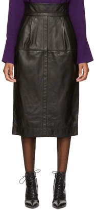 Marc Jacobs Black High-Waisted Leather Skirt