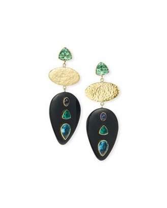 Ashley Pittman Dark Horn 3-Tier Drop Earrings
