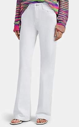 J Brand Women's Joan High-Rise Wide-Leg Jeans - White