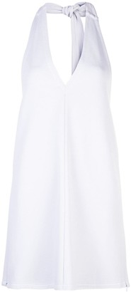 Tibi frisse halter neck top