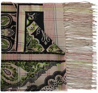 Etro paisley woven scarf