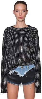 Diesel Cotton Sweatshirt W/ Crystals