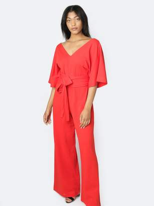 Fashionable Rosario Flutter Sleeve Jumpsuit