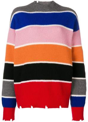 MSGM knitted stripped sweater