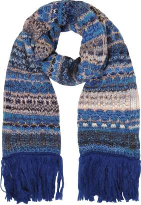 Missoni Wool Blend Knit Women's Long Scarf w/Maxi Fringes