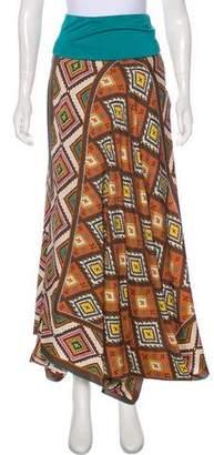 Nicole Miller Printed Strapeless Maxi Dress