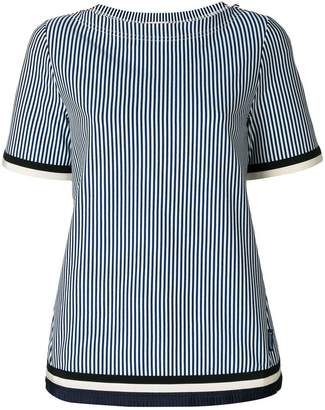 Moncler striped boat neck T-shirt