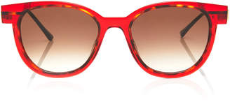 Thierry Lasry Shorty Round-Frame Printed Acetate Sunglasses