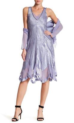KOMAROV Sequin V-Neck Dress & Jacket 2-Piece Set $418 thestylecure.com