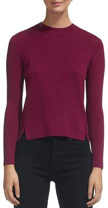 Whistles Notched-Hem Cropped Sweater