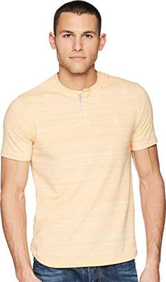 Original Penguin Men's Short Sleeve Spacedye Henley