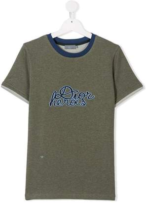 Christian Dior TEEN embroidered logo shirt