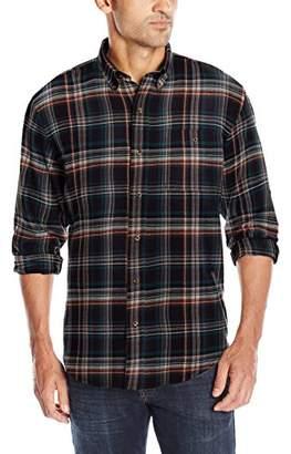 Bass Men's Long Sleeve Fireside Plaid Flannel Shirt