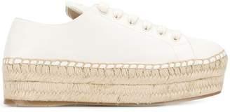 Prada platform espadrille sneakers