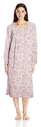 Aria Women's Long Sleeve Ballet Knit Jersey Nightgown