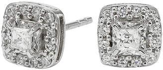 JCPenney FINE JEWELRY 1/2 CT. T.W. Diamond 10K White Gold Square Framed Stud Earrings