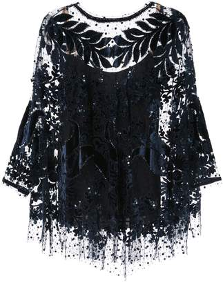 Biyan oversized embellished tunic top