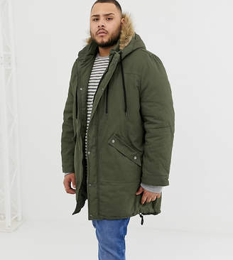 Another Influence PLUS Faux Fur Hooded Fishtail Parka Jacket