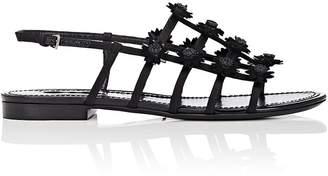 Fabrizio Viti Women's Daisy-Appliquéd Satin Slingback Sandals
