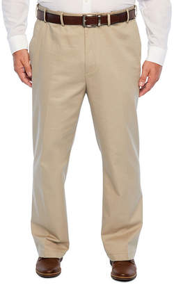 Izod Relaxed Fit Flat Front Pants-Big and Tall
