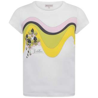 Pucci PUCCIGirls White Wavy Flower Print Top