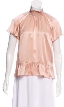 Rachel Zoe Silk Mock Neck Blouse w/ Tags