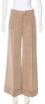 Stella McCartney Mid-Rise Linen-Blend Pants