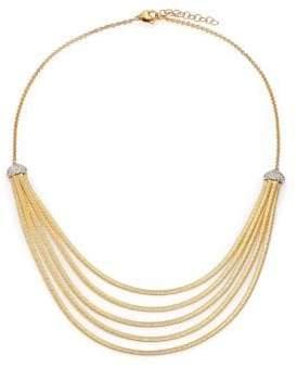 Marco Bicego Cairo Diamond& 18K Yellow Gold Five-Row Bib Necklace
