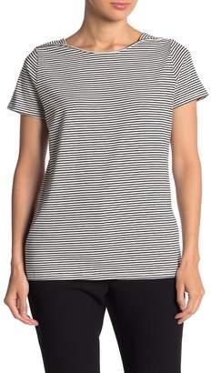 T Tahari Striped Boatneck T-Shirt