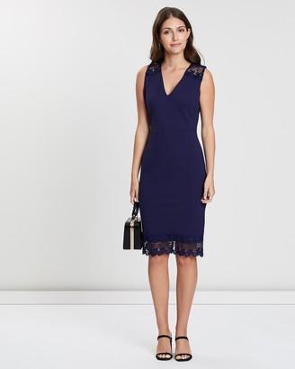 Dorothy Perkins Lace Shoulder Pencil Dress