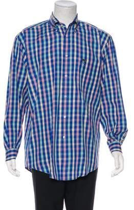Façonnable Woven Plaid Shirt