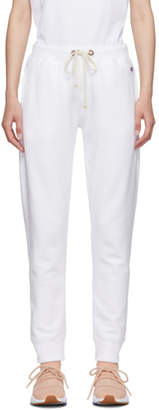 Champion Reverse Weave White Elastic Cuff Lounge Pants