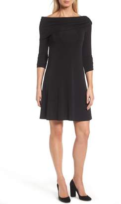 Karen Kane Jackie Drape Neck Jersey Dress