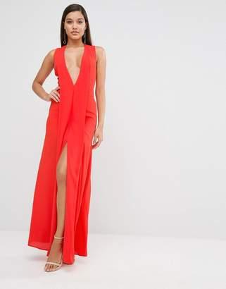 AQ AQ AQ/AQ Plunge Hayes Maxi Dress $226 thestylecure.com