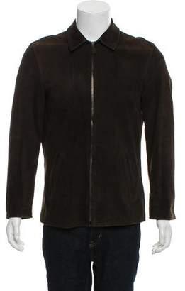 Ralph Lauren Purple Label Suede Zip-Up Jacket