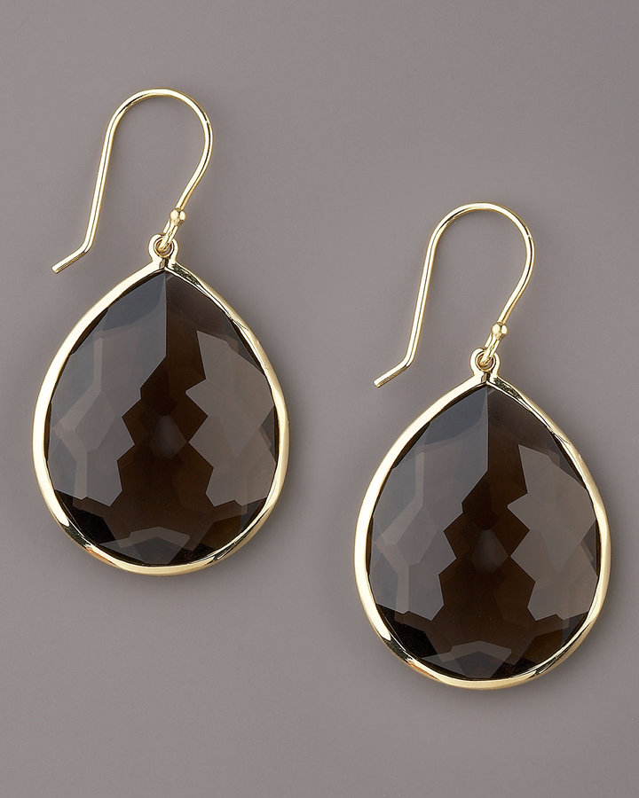 Ippolita Medium Teardrop Earrings, Smoky Quartz