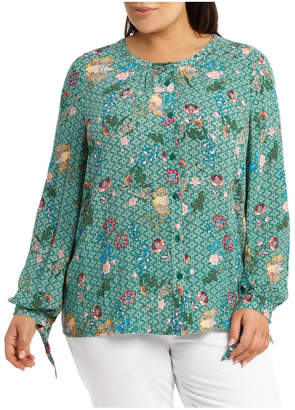 3/4 Sleeve Collarless Soft Shirt