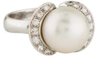 Ring 18K Pearl & Diamond