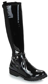 Regard REJANU V1 VERNIS NOIR women's High Boots in Black