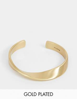 Pilgrim gold plated twist bracelet