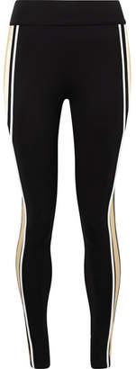 NO KA 'OI NO KA'OI Kaua Kala Striped Stretch Leggings - Black