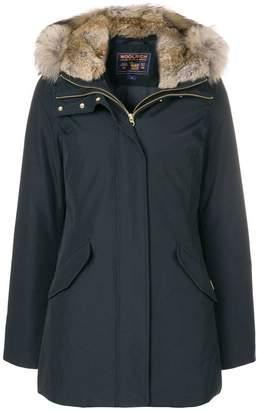 Woolrich fur hooded parka coat