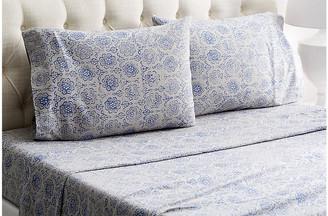 Belle Epoque Heather Flannel Sheet Set - Blue/Gray