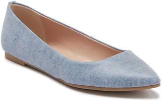 BCBGeneration Millie Smooth Denim Pointed Toe Flat