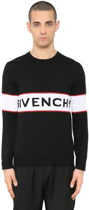 Givenchy Logo Intarsia Light Wool Knit Sweater