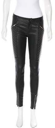 Thomas Wylde Mid-Rise Leather Pants w/ Tags